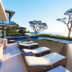 Modern luxury home showcase patio with ocean view