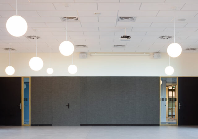 School Zuid Harelbeke by Triplaco Print Acoustics. Photos Dennis